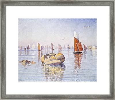 Concarneau   Quiet Morning Framed Print by Paul Signac
