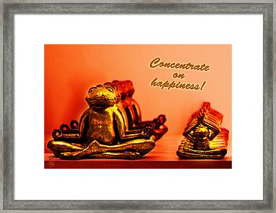 Concentrate On Happiness Framed Print by Li   van Saathoff