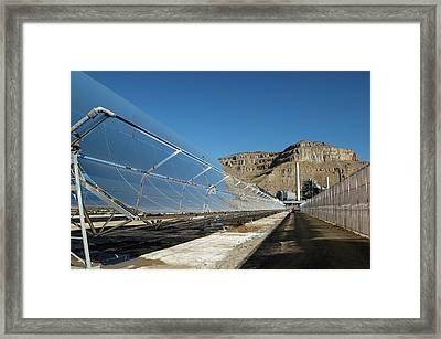 Concentrating Solar Power Plant Framed Print by Us Department Of Energy