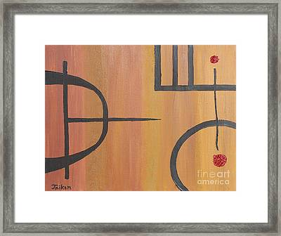 Concentration Training By Taikan Framed Print by Taikan Nishimoto