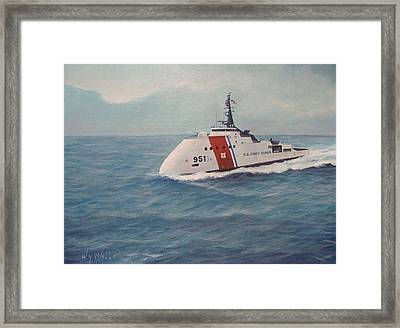 Concept Design For Off Shore U. S. Coast Guar Cutter Framed Print by William H RaVell III