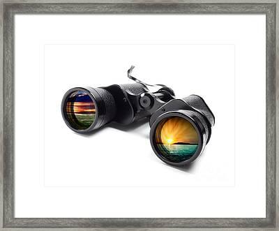 Conceptual Binoculars Framed Print