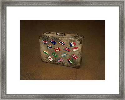 Conceptual Illustration Of Global Business Travel Framed Print by Fanatic Studio / Science Photo Library