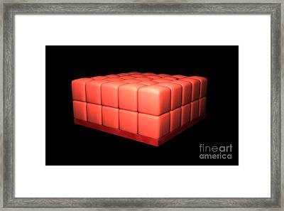 Conceptual Image Of Stratified Cuboidal Framed Print by Stocktrek Images