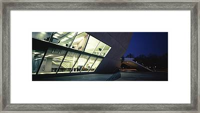 Concert Hall Lit Up At Night, Casa Da Framed Print by Panoramic Images