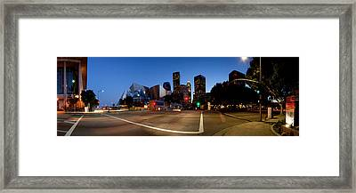 Concert Hall Lit Up At Night, Walt Framed Print by Panoramic Images