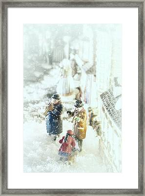 Concert In The Snow Framed Print