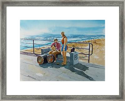 Concert In The Sun To An Audience Of One Framed Print by Debbie Lewis