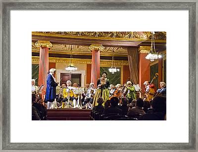 Concert In Vienna Framed Print by Jon Berghoff