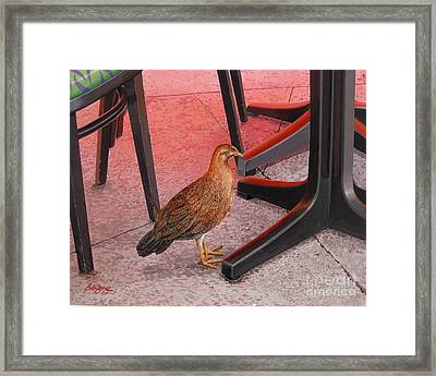 Framed Print featuring the painting Conch Chicken by Bob  George