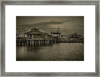 Conch House Marina Framed Print