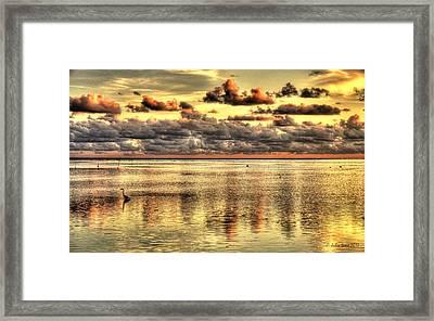 Conch Key Bay Sunset Framed Print