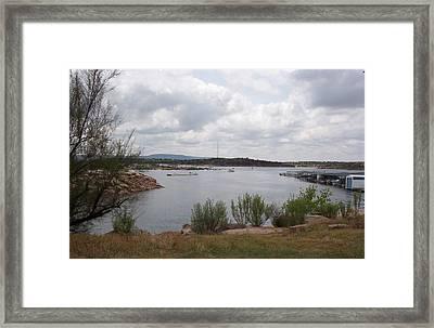 Conchas Dam Framed Print by Sheri Keith