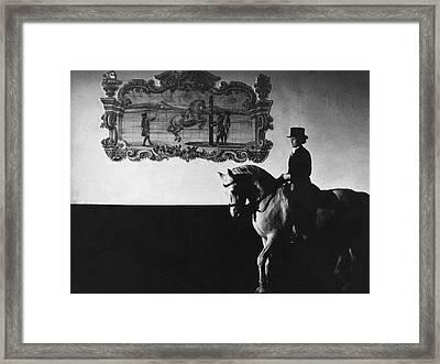 Conchita Cintron Riding A Stallion Framed Print