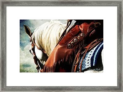 Conchos Framed Print by Karen Slagle