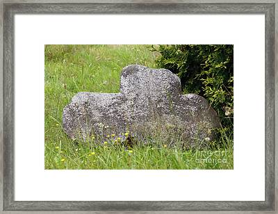 Conciliation Cross Framed Print by Michal Boubin