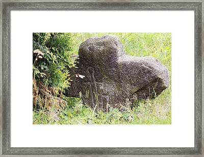 Conciliation Cross With Sword Framed Print by Michal Boubin