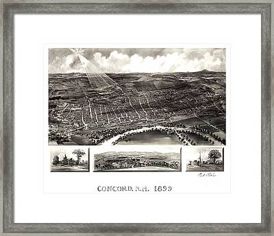 Concord - New Hampshire - 1899 Framed Print