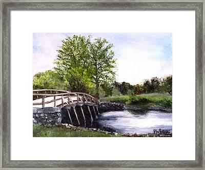 Concord Bridge Framed Print