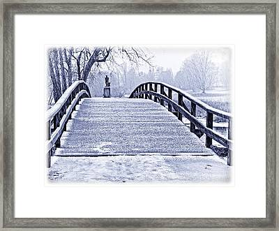 Concord Bridge In Winter Framed Print by Bill Boehm
