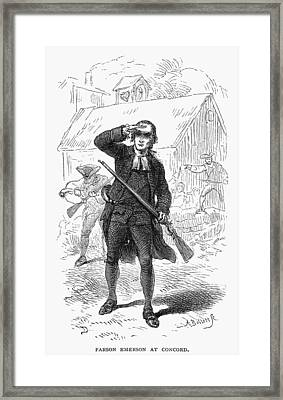 Concord: Minuteman, 1775 Framed Print