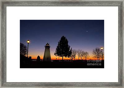 Concord Point Lighthouse Before Dawn Framed Print by Rrrose Pix
