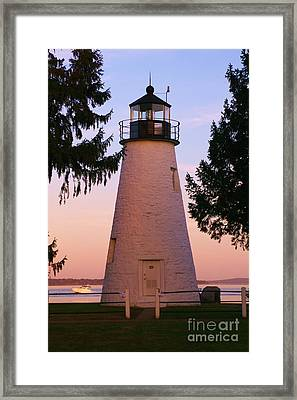 Concord Point Lighthouse Framed Print by Mark  Wall