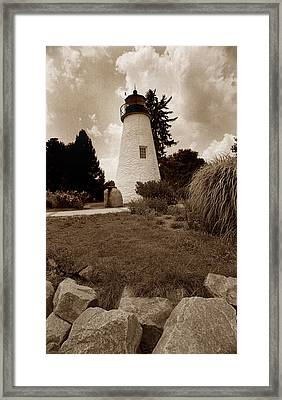 Concord Point Lighthouse Framed Print by Skip Willits