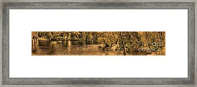 Concord River At Old North Bridge Framed Print by Nigel Fletcher-Jones
