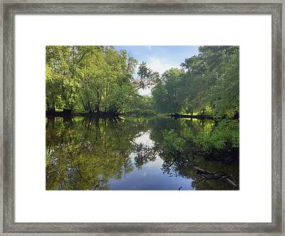Concord River Framed Print by Nancy Landry