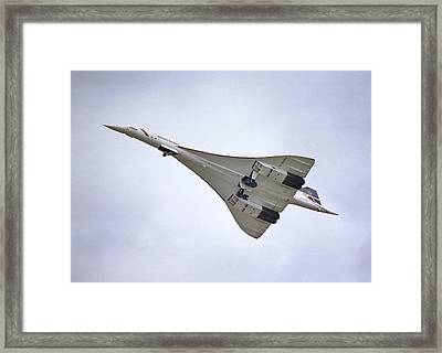 Framed Print featuring the photograph Concorde 02 by Paul Gulliver