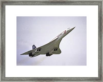 Framed Print featuring the photograph Concorde 03 by Paul Gulliver