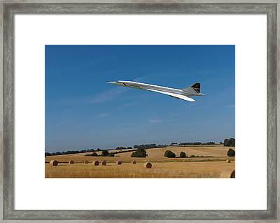 Concorde At Harvest Time Framed Print by Paul Gulliver