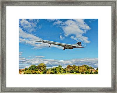 Concorde On Finals Framed Print by Paul Gulliver