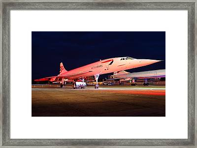 Concorde On Stand Framed Print