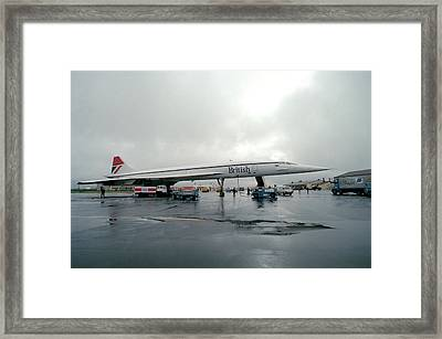 Concorde Refuelling Framed Print