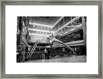 concourse B at Denver International Airport Colorado USA Framed Print by Joe Fox