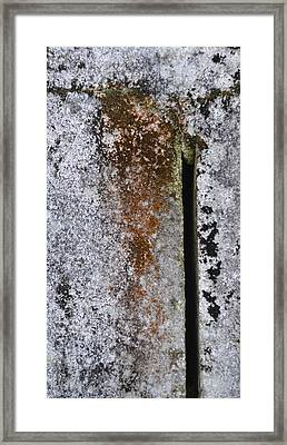 Concrete Abstract - Natures Beauty Framed Print