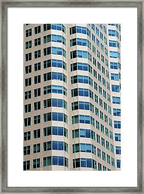 Concrete And Blue Glass Framed Print