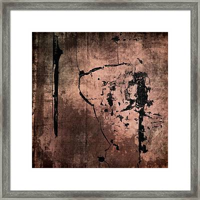 Concrete And Silk Framed Print