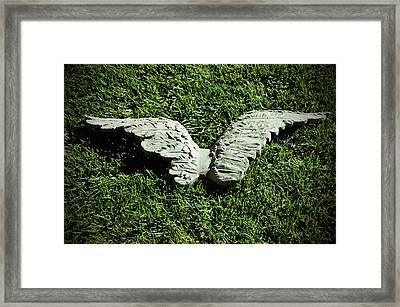 Concrete Angel Framed Print by Holly Blunkall