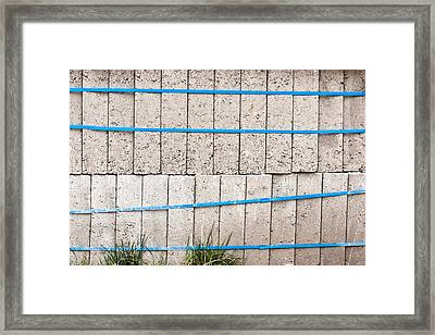 Concrete Blocks Framed Print by Tom Gowanlock