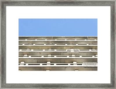 Concrete Building Framed Print by Tom Gowanlock