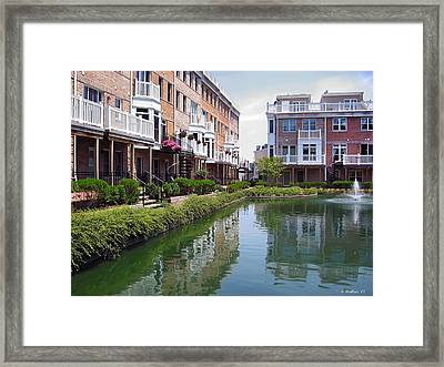 Concrete Canyon Architecture Framed Print
