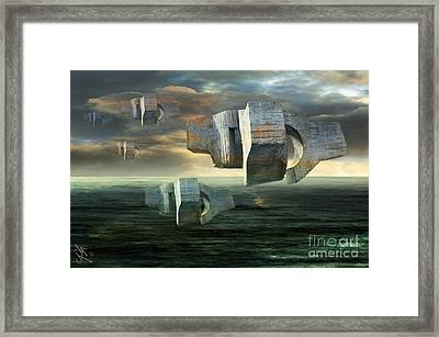Concrete Clouds Chillida Framed Print by Rosa Cobos