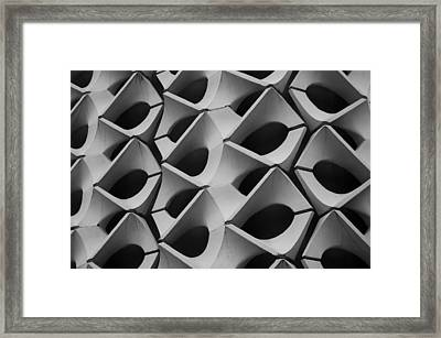 Concrete Facade - Chemnitz Framed Print by Peter Cassidy