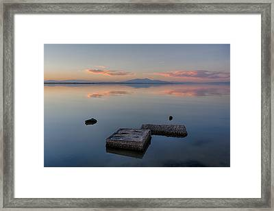 Concrete Floats Framed Print by Peter Tellone