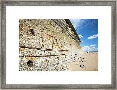 Concrete Sea Defences Framed Print by Ashley Cooper