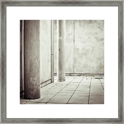 Concrete Space Framed Print