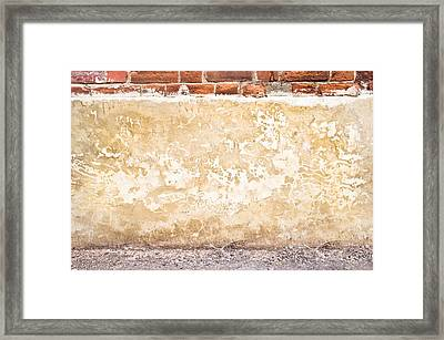 Concrete Wall Framed Print by Tom Gowanlock